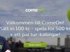 odds bonus hos comeon