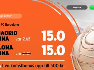 oddsboost real madrid barcelona