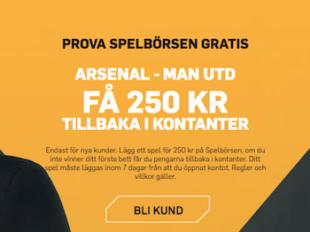 riskfritt spel betfair arsenal united